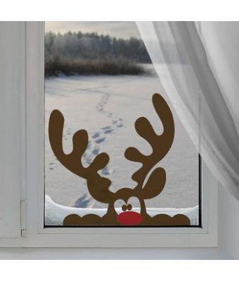 peeping reindeer window sticker by nutmeg   notont…