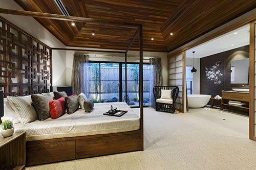 en suite badkamer Japanse stijl