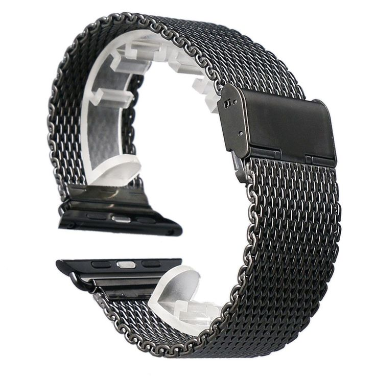 $10.11 - High Quality Black 38MM/42MM Stainless Steel Mesh Apple Watch Strap Band For iWatch Smart Watches Free Shipping | Shop Now! - WorldOfTablet.com
