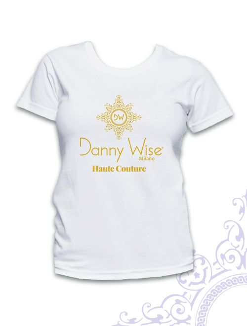 DANNY WISE T. Shirt : Model Man Classic   100% Cotton  White  Logo Gold      stamped by Hand in Italy.   DANNY WISE T. Shirt : Model Man   100% Cotton  Black Logo Blu     stamped by Hand in Italy.  size L-XL only in official Boutiques- Stores- Megastores  Danny Wise only in official Boutiques- Stores- Megastores  Danny Wise