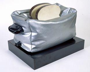 "Claes Oldenburg - ""Soft Toaster,"" 1964. Vinyl, kapok, cloth, and paint on wood, 51 x 38 x 25 cm, Allen Memorial Art Museum, Ohio."