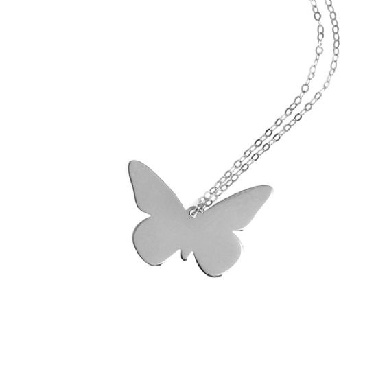 This beautiful butterfly charm necklace adds a feminine touch to any outfit and can also be engraved with the name or word of your choice, making it the perfect gift idea. Made from quality 0.925 Sterling Silver and available in sterling silver, 18kt rose gold or gold plated sterling silver. Dimension of charm 2.5 cm x 2cm. Anna Lou of London's personalised jewellery is handmade to order so please allow up to two weeks for delivery. . #annalouoflondon