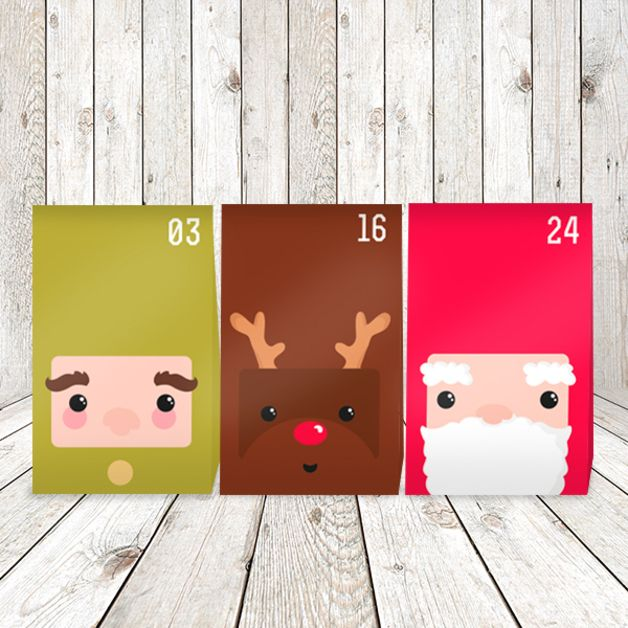 DIY Adventskalender Weihnachts-Truppe // diy advent calendar by That looks JUT! via dawanda.com