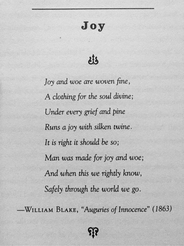 William Blake - Joy