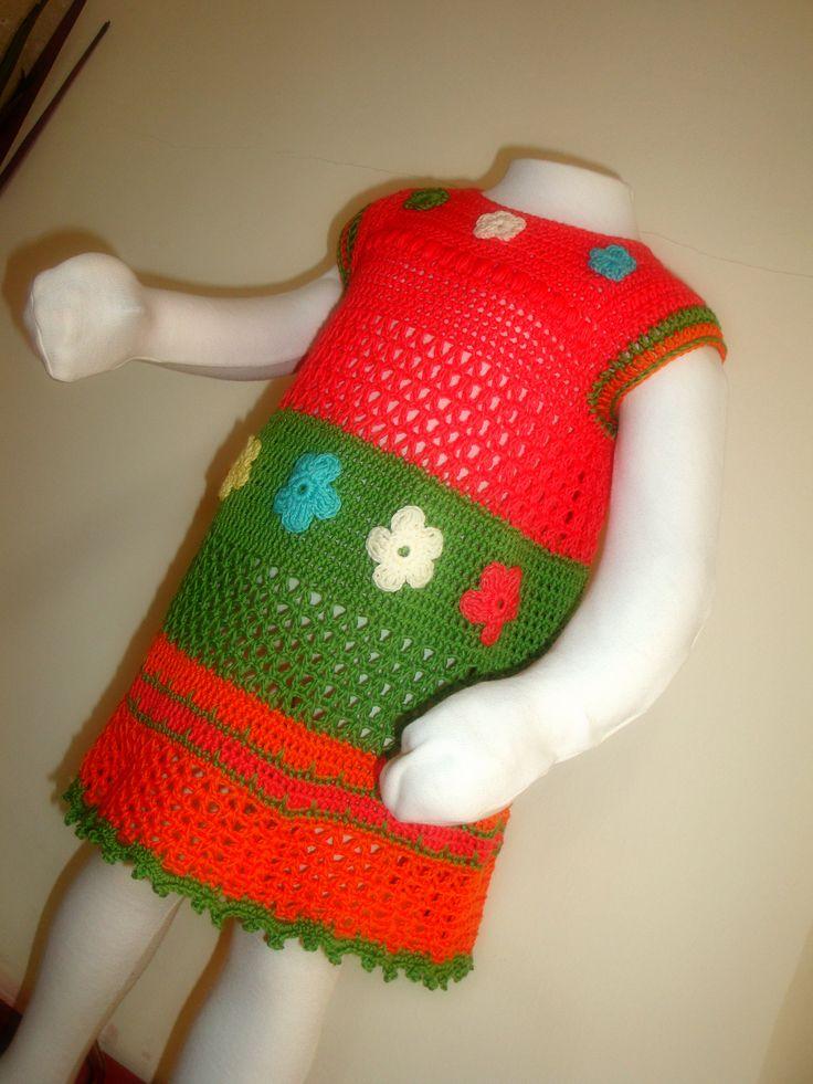 cotton summer crochet dress...