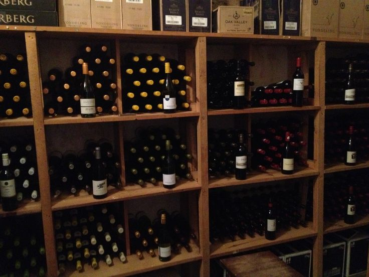 The wine cellar at Lilayi - Proof that we really do have something for everyone