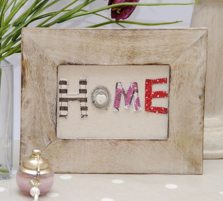 Home Vintage Inspired Textile Embroidered Framed Picture Made in Britain by birdie blue