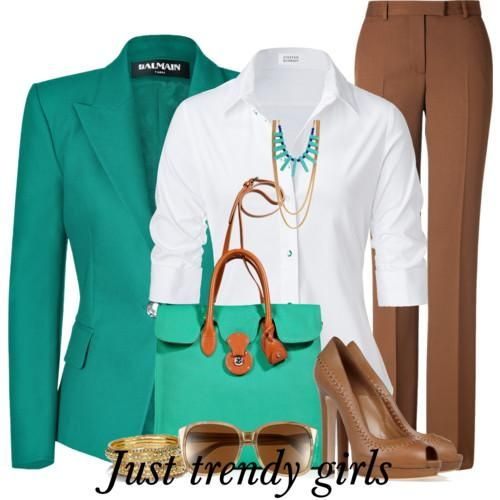 Block colors Business suits for woman | Just Trendy Girls