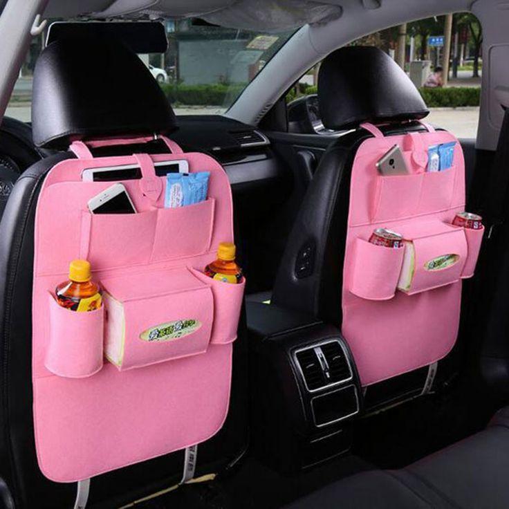 Car Seat Bag Organizer,Woolen Felt Seat Back Protectors