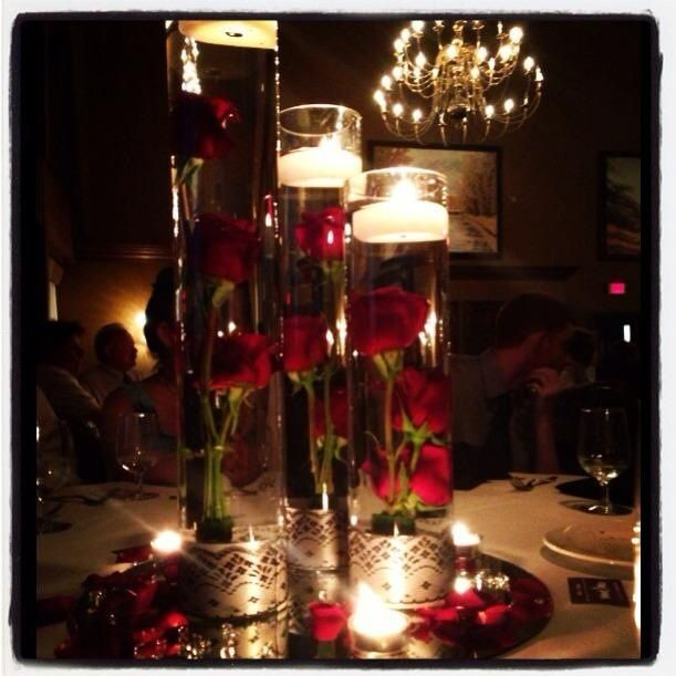 Floating candle wedding centerpiece my wedding for Candle centrepiece