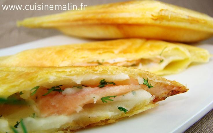 Recette de la tourte au saumon par Cuisine malin. La tourte express pour cuisiner léger et rapidement.   http://www.cuisinemalin.fr/tourte-au-saumon