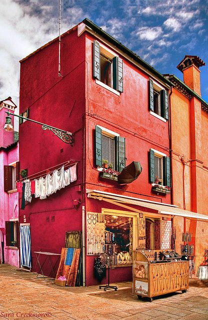 Bead Shop in Colorful and quaint, Burano, the Lacemaker's Island. It is also a glass and bead lovers paradise.