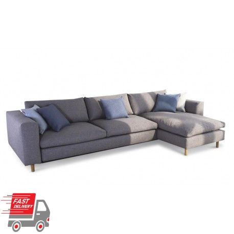 The Magni Queen Sofa Bed with Chaise is a magnificent piece of Danish artistry that is finely crafted and exquisitely designed to create a chic and contemporary vibe to any living room.