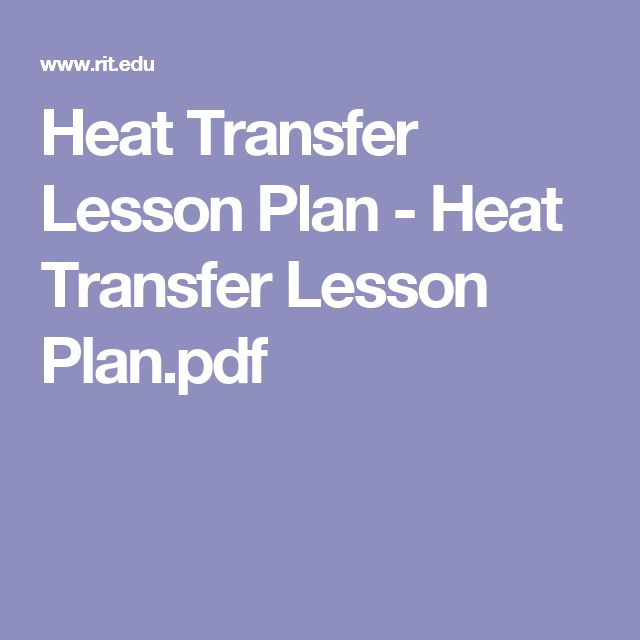 Heat Transfer Lesson Plan - Heat Transfer Lesson Plan.pdf