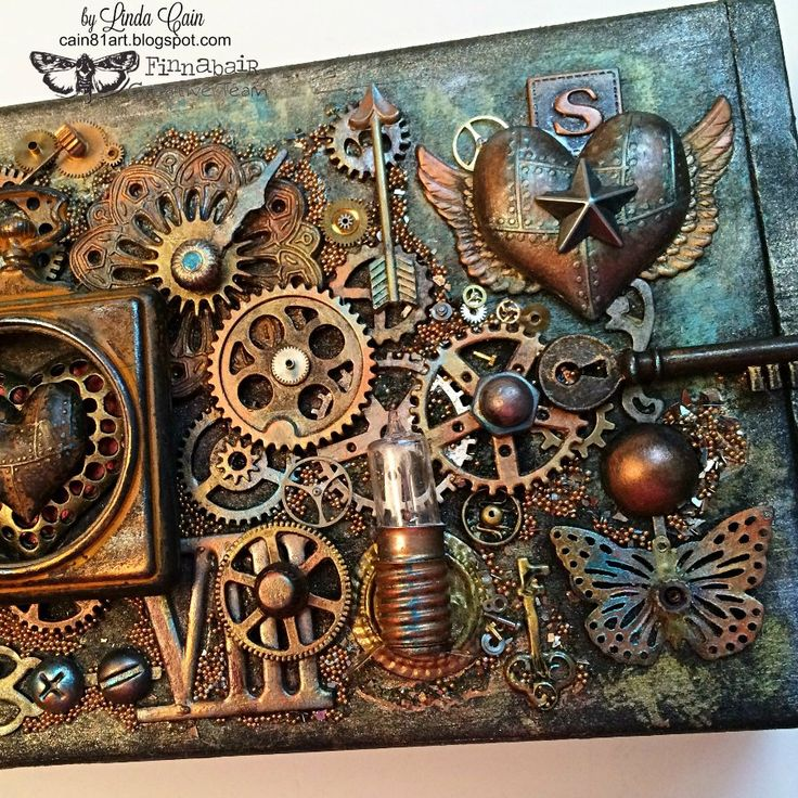 FRIENDS in ART: Steampunk Box with New Finnabair Mechanicals