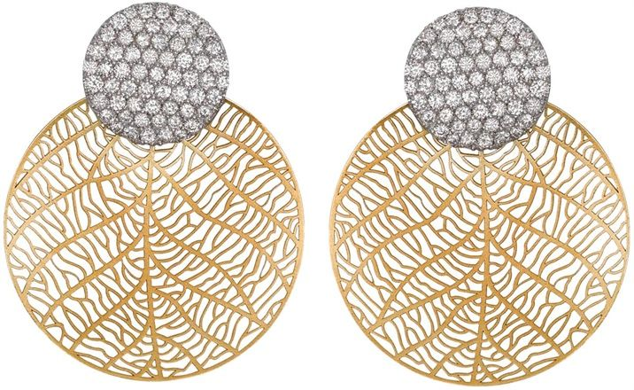 Stroili Oro - Orecchini con cerchi in argento rodiato e cristalli