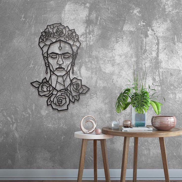 frida kahlo en d co m tal murale sur artwall and co tableaux modernes et d corations murales. Black Bedroom Furniture Sets. Home Design Ideas