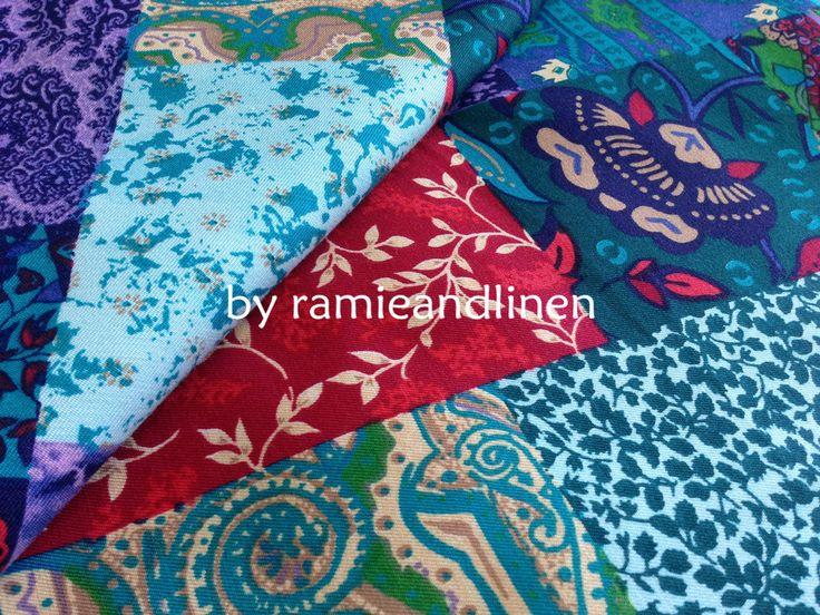 japanese silk fabric patchwork print silk cotton by