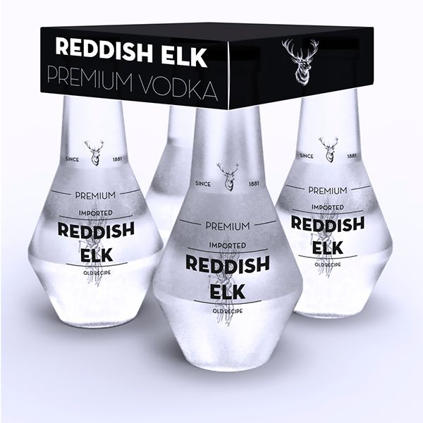 Reddish Elk Premium Vodka by Dídac Esteve, via Behance
