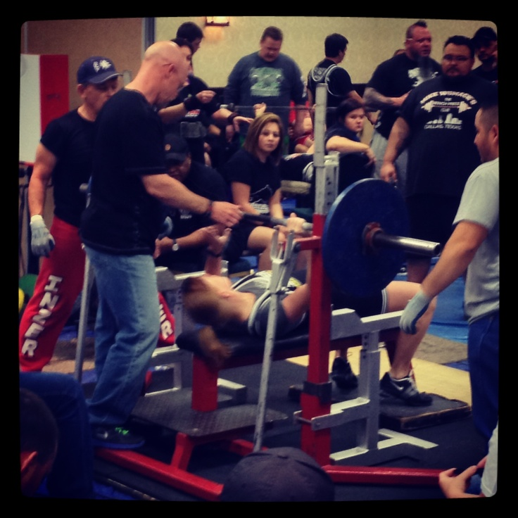 NASA Texas State Championship.  Benched 143# weighing in at 134.