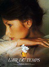 De klassieker onder de zoete bloemengeuren: L`air du temps van Nina Ricci uit 1948. Perzik, neroli en roos met als basisnoten: iris, vetiver en ceder.