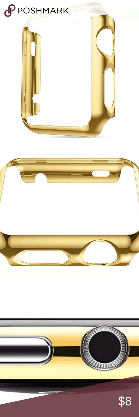 New Gold Case for Apple Watch 38mm Series 1 and 2 Brand new and High quality Case to protect your iWatch from scratches, Fashionable plating makes your watch look unique, the product is not hollow more protection for your watch. Built in Screen protector, Light weight with precise cut openings to allow full access to all functions.  Fits Apple Watch Series 1 and 2 38mm. Please inquire about the  matching band also available and ready to be bundle Accessories Phone Cases