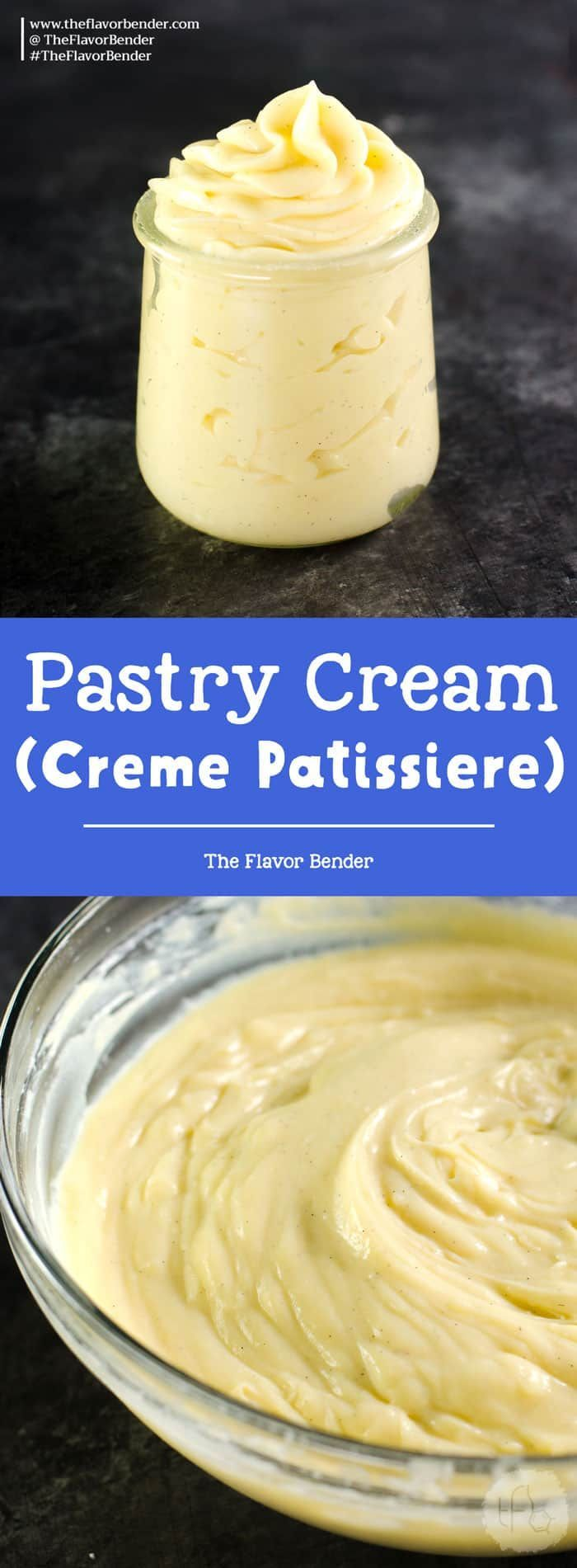 Creme Patissiere - creamy Vanilla pastry cream, that is used in many desserts. Perfect for profiteroles and eclairs.  This recipe is gluten free, and also dairy free friendly