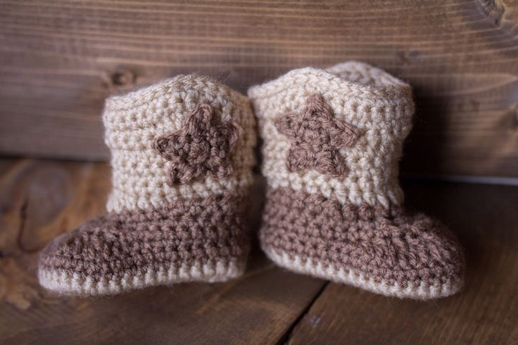 Crochet Baby Boy Cowboy Boots Only / Sizes Newborn - 12 Months **MADE TO ORDER** by BowBabiesBoutique on Etsy https://www.etsy.com/listing/211006459/crochet-baby-boy-cowboy-boots-only-sizes
