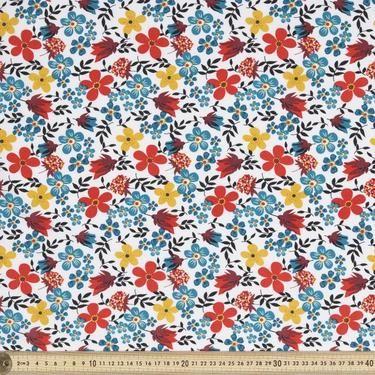 Sunshine Prints Wildflower Fabric White 112 cm
