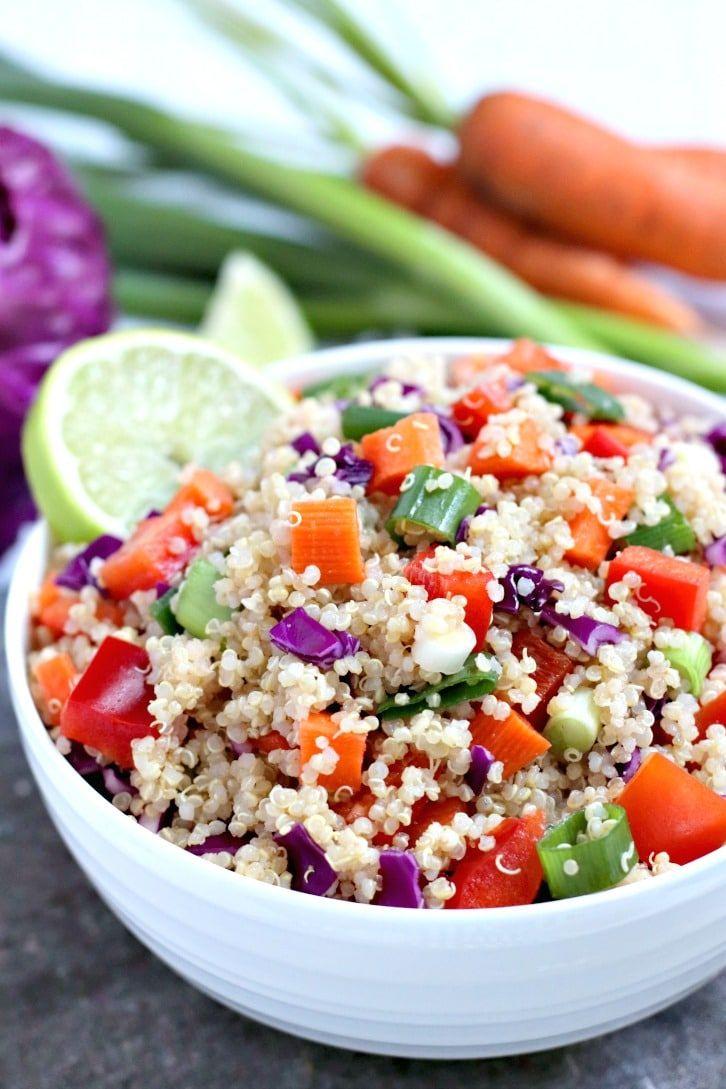 Easy Vegan Quinoa Salad Veggies Save The Day Recipe Salad Recipes Healthy Vegetarian Vegetarian Recipes Healthy Healthy Salad Recipes