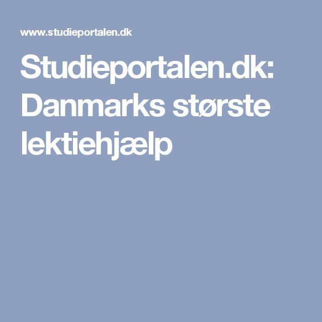 Studieportalen.dk: Danmarks største lektiehjælp