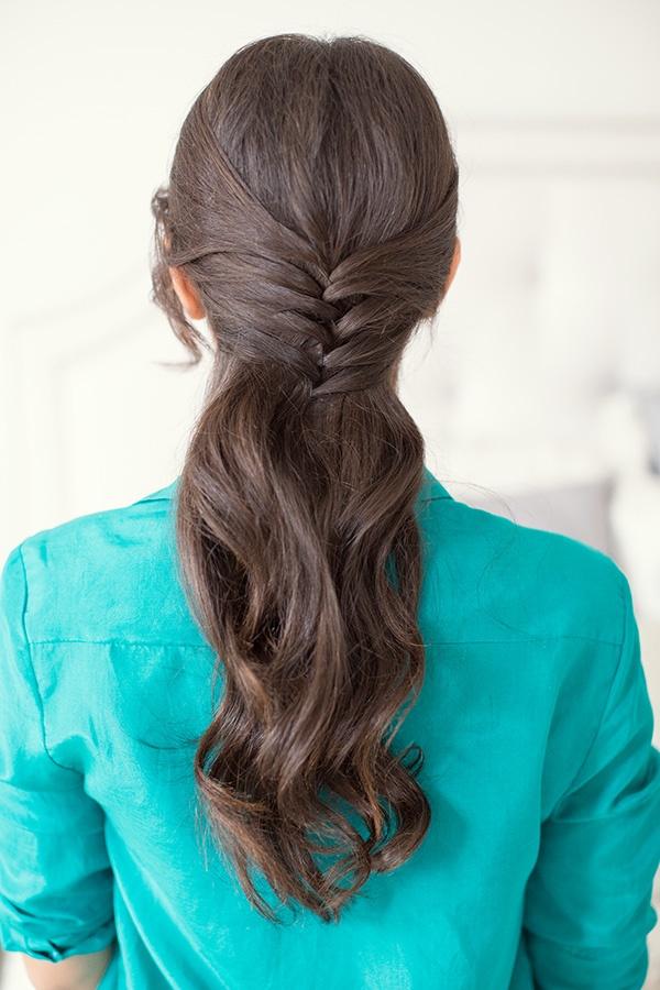 corset hair, everyday hair, easy hairstyle, fishtail braid