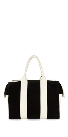 Limited edition Cadet Junior Bag in suede with cream leather stripes. Whoa, drooling.