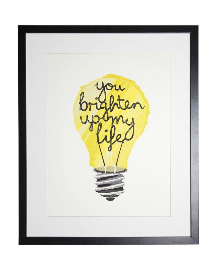 Paper lightbulb print