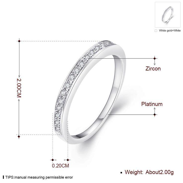 Романтическое платиновое кольцо с круглым белым кубическим цирконием для женщин GPR1234 0