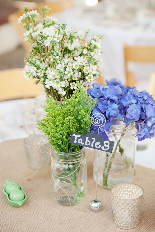 Wedding flower centerpieces made with LA Flower Market flowers!