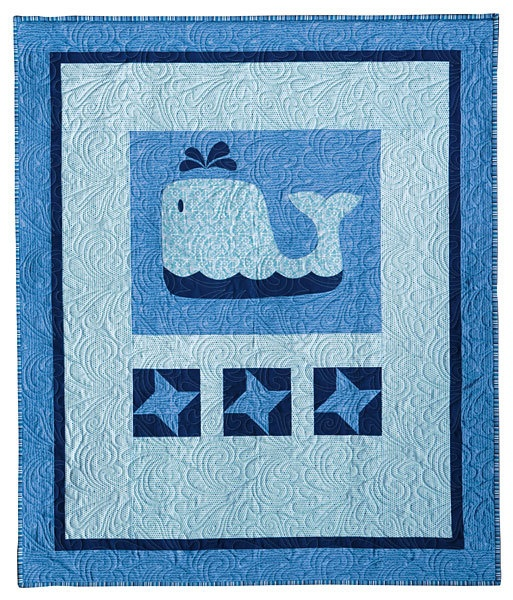 Nautical fabric quilt kit baby beluga baby quilt by for Boy quilt fabric