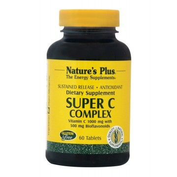 SUPER C COMPLEX 1000mg with Bioflavonoids NATURE'S PLUS 60tabs