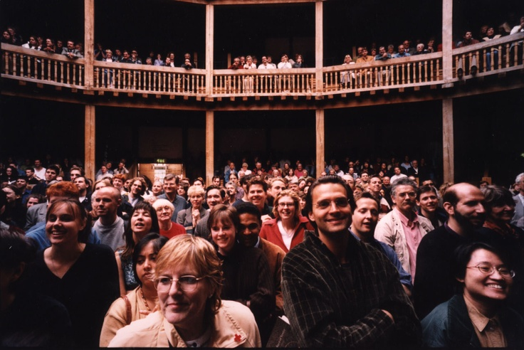 Following a National Lottery grant of 12.5 million pounds, Shakespeare's Globe theatre reconstruction opened to the public in 1997