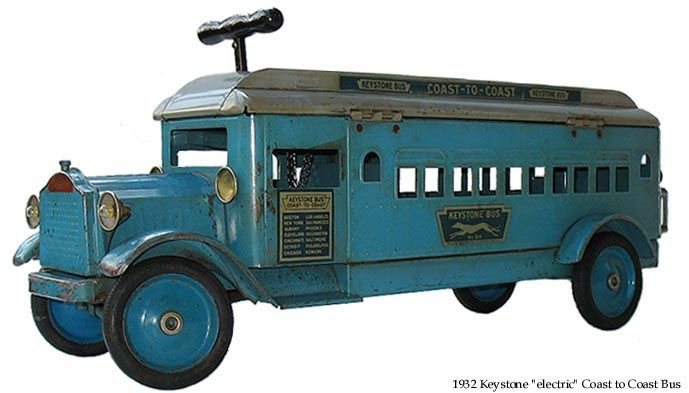 Keystone Toy Bus  Tin