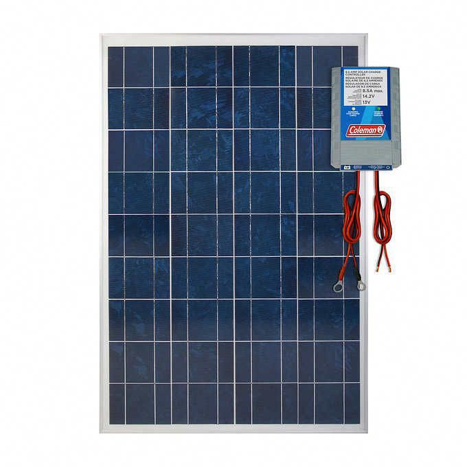 Coleman 100w Solar Panel With 8 5 Amp Charge Controller Solar Panels Solar Energy Panels Best Solar Panels