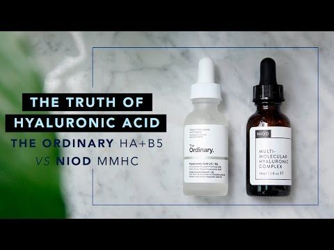 The Truth of Hyaluronic Acid • The Ordinary HA+B5 vs NIOD MMHC - YouTube