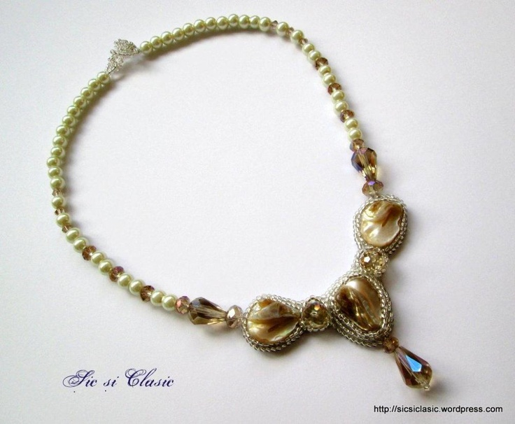 Opera necklace pear necklace, luxury, jewelry, Romania, Adelina Maries, Sic si Clasic