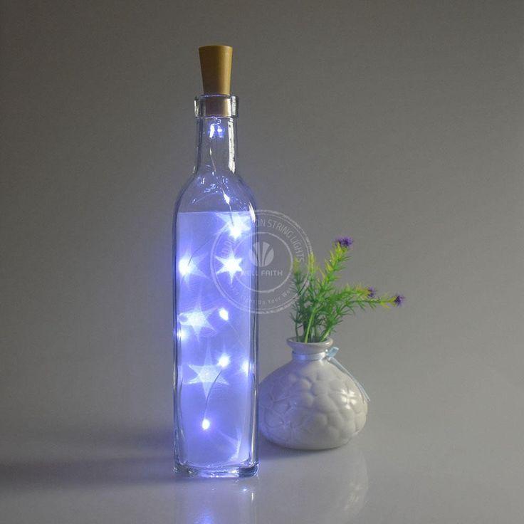 2017 hot led bottle stopper string lights for bar/party/home decoration battery powered christmas lights