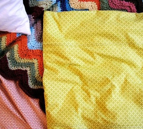 Make your own duvet cover from a set of sheets- way less expensive...
