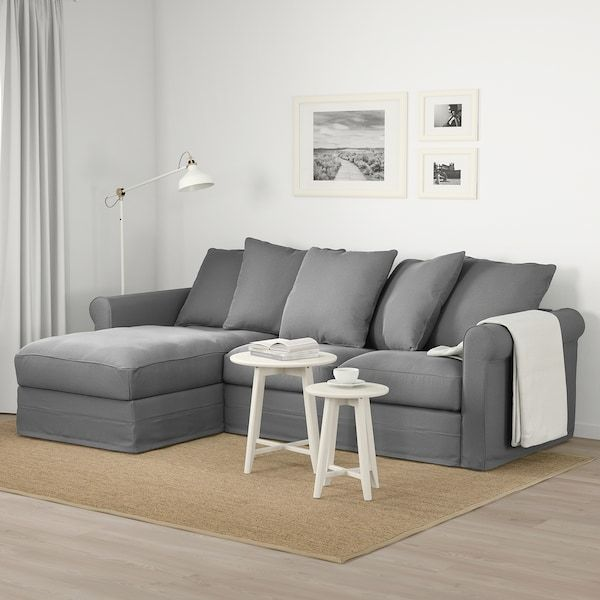 Gronlid 3 Seat Sofa With Chaise Longue Ljungen Medium Grey Ikea In 2020 Sofa Small Apartment Couch Ikea Couch