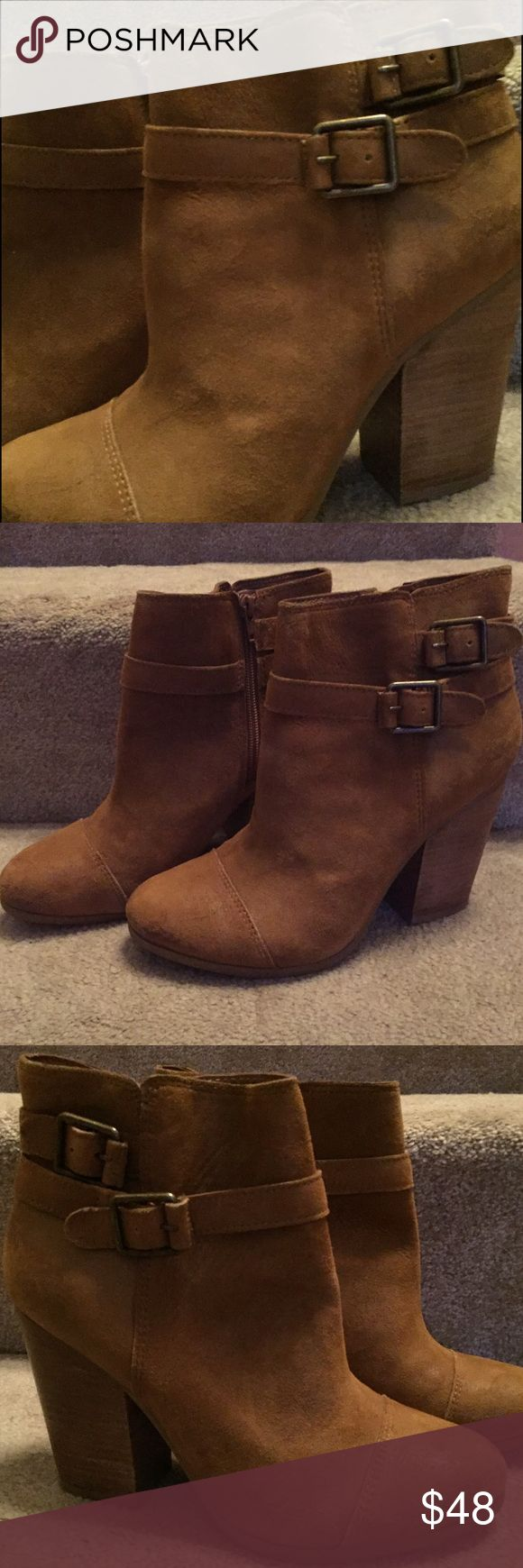 Dark Tan Light Brown NWOT lucky suede booties 9.5 Dark Tan Light Brown NWOT lucky suede booties 9.5. Super comfy and soft. Inside ankle zip. Store display, no box. Lucky Brand Shoes Ankle Boots & Booties