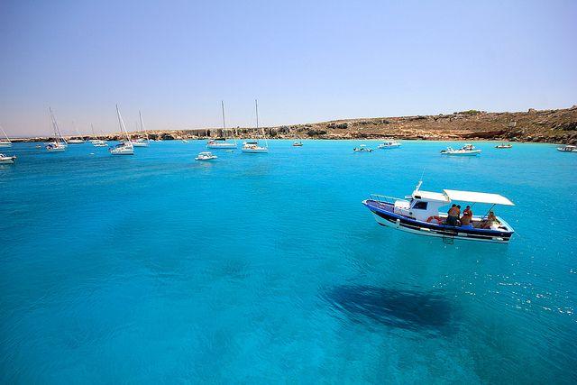 Near the island Favignana, Egadi, Sicily by Robyn Hooz