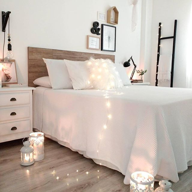 die besten 25 schlafzimmer lichterkette ideen auf pinterest. Black Bedroom Furniture Sets. Home Design Ideas