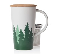 The Giant Perfect Tea Mug - Fall 2012 - DAVIDsTEA (In my mind fall & coniferous forests go hand in hand for some reason?)